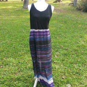 Vince Camuto Striped Sundress / Maxi Dress Sz XL